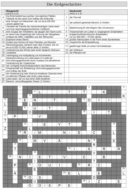 Kreuzworträtsel 1