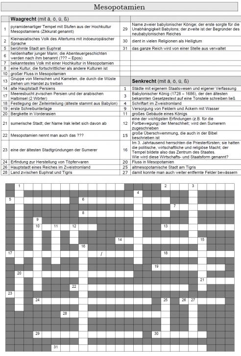 Kreuzworträtsel 3