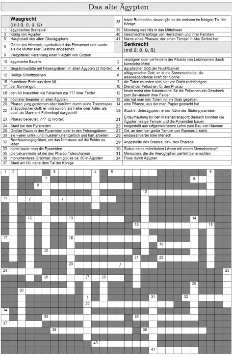 Kreuzworträtsel 4