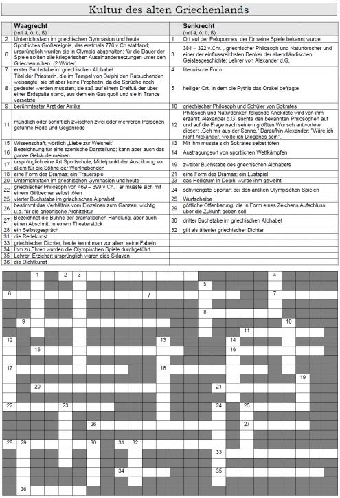 Kreuzworträtsel 7