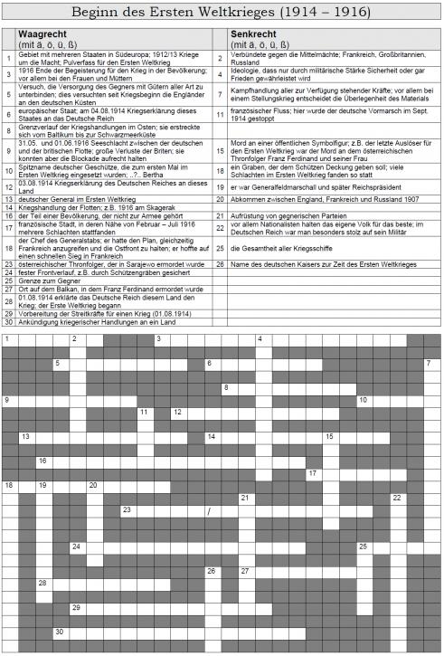 Kreuzworträtsel 36