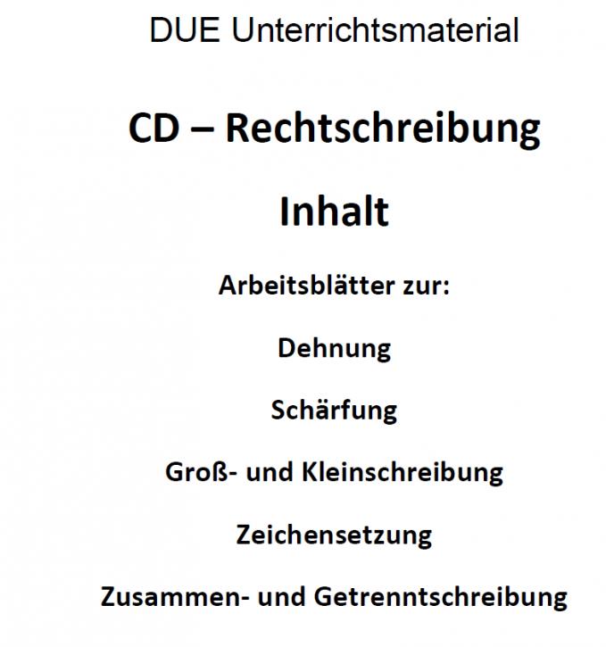 Rechtschreibung für den Deutschunterricht